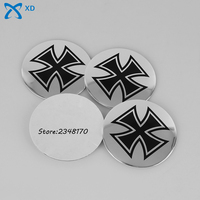 For Cross Logo Arc Surface Hub Caps 56 5mm Wheel Center Sticker Emblem Badge For Suzuki