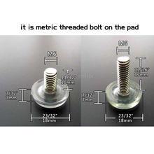 12 Clear Transparent Furniture Table Sofa Cabinet Adjustable levelling Leg Feet Glide Slide Leveler Base Screw-in M6 Bolt on Pad