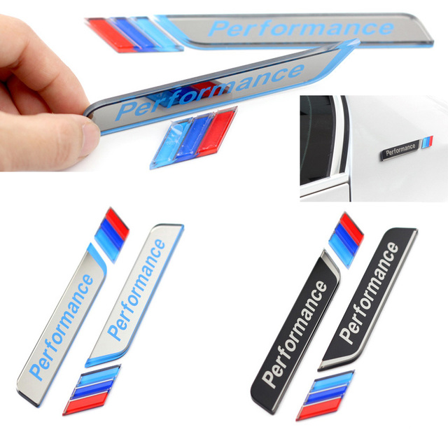 Wholesale 10 pair styling m performance car window decorative sticker m power fender