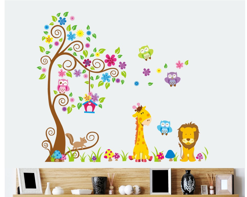 Animal wall decals for kids wall murals ideas nursery decal amipublicfo Choice Image