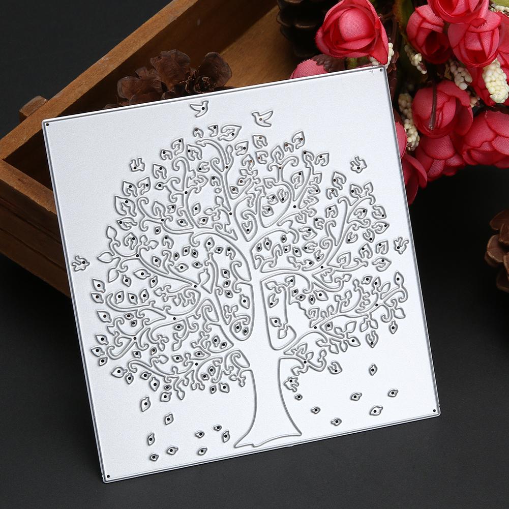 Diy metal cutting dies big tree family design scrapbook for Paper cutter for crafts