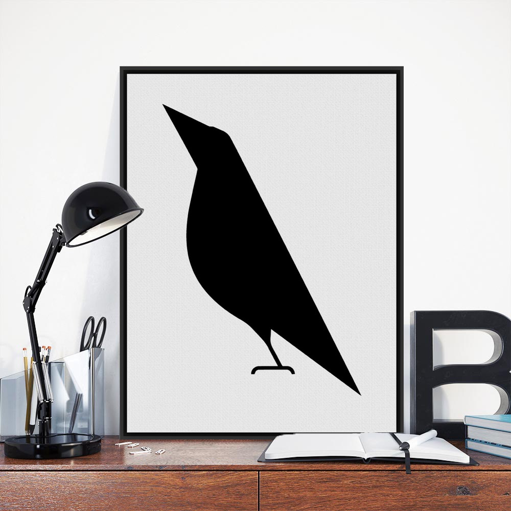 modern nordic minimalist black white animals bird a4 art print poster abstract wall picture. Black Bedroom Furniture Sets. Home Design Ideas