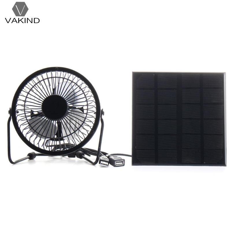 4 Панели солнечные usb-вентилятор 3 Вт 6 В гладить металлический вентилятор для ноутбука Тетрадь PC Рабочий стол Вентилятор охлаждения Cooler зар...
