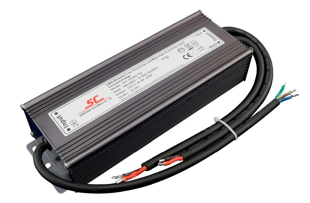 KVP-12200-TD; conducteur mené par tension constante dimmable de triac de 12 V/200 W, entrée de AC90-130V/AC170-265V
