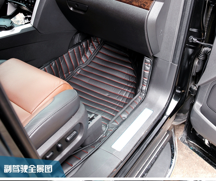 Хорошее качество! Специальные коврики для Ford Explorer 7 мест-2011 Водонепроницаемый dueable ковры для Explorer