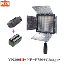 Yongnuo YN300 III YN-300 III 3200 k-5500 K CRI95 Caméra Photo LED Lumière Vidéo avec 4600 mAh NP-F750 batterie avec Chargeur ensemble