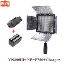 Yongnuo YN300 III YN-300 III 3200 karat-5500 Karat CRI95 Kamera Foto Led-videoleuchte mit 4600 mAh NP-F750 akku mit Ladegerät set