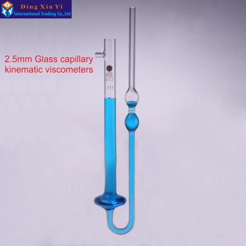 купить 2.5mm Laboratory viscosity tube Glass capillary kinematic viscometers capillary tube viscosimeter по цене 1518.41 рублей