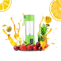 Electric Juicer Blender Portable Two Blades Juice Machine USB Rechargeable Multifunction Juice Maker Household 380ML 4 Color