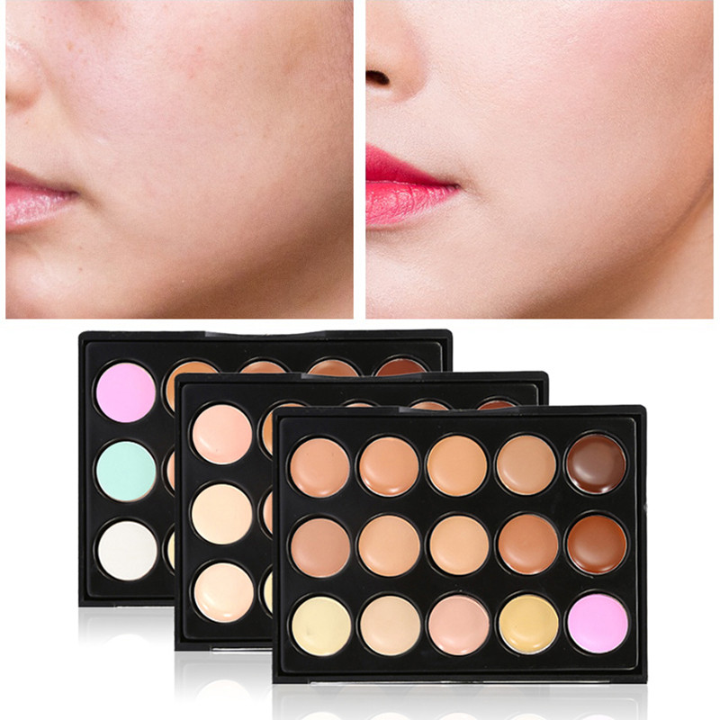 Popfeel Concealer Makeup 15 Colors Face Foundation Palette Contour Primer Bronzer Highlighter Concealer Cream Maquillaje TSLM1