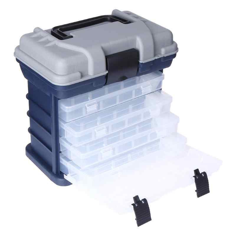 1 pcs Portable Multi-Layer Fish Lures Container Box Durable Fishing Tackle Storage Case 5 Layer Plastic Case Organizer