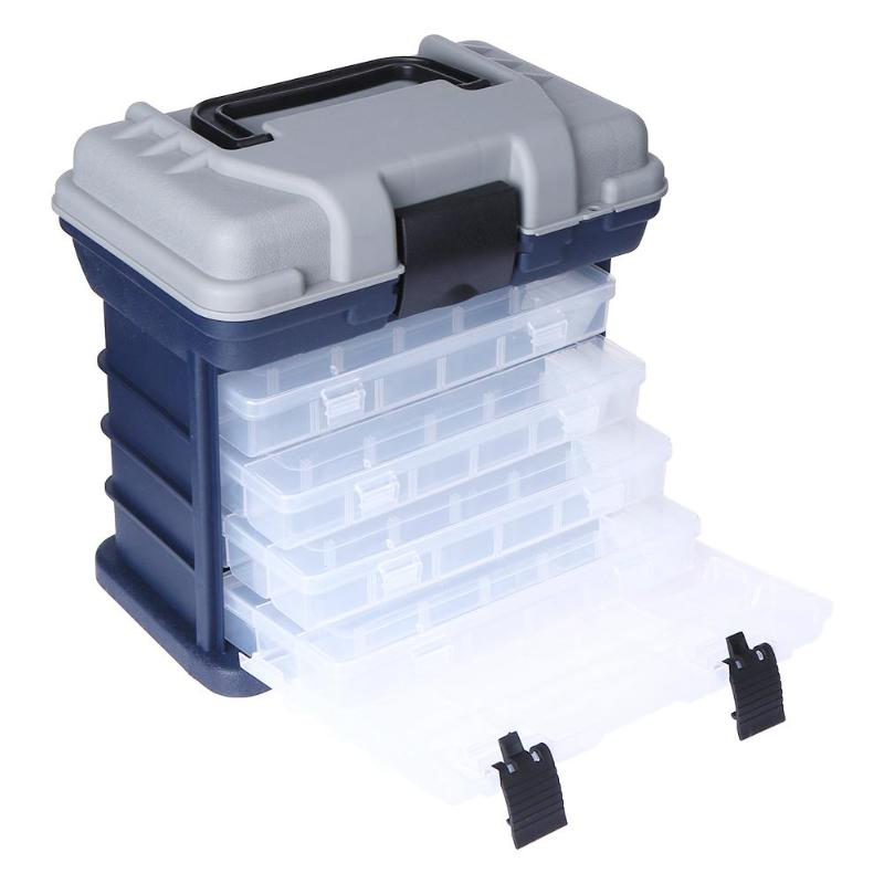 1 pcs Portable Multi Layer Fish Lures Container Box Durable Fishing Tackle Storage Case 5 Layer Plastic Case Organizer