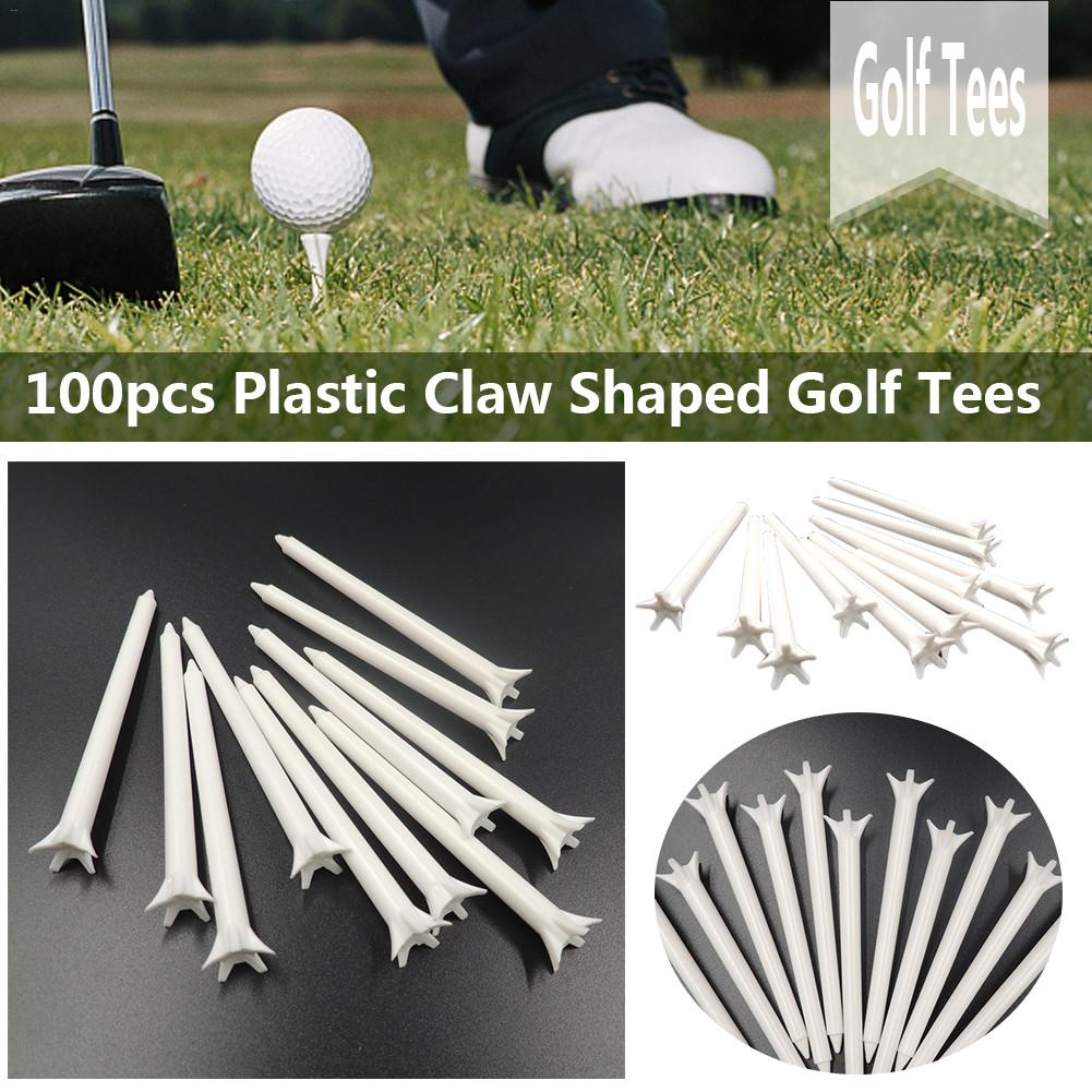 100PCS 70mm/83mm Outdoor Five Claws Plastic Golf Tees Sport Equipment Golf Ball Holder Golf Accessory