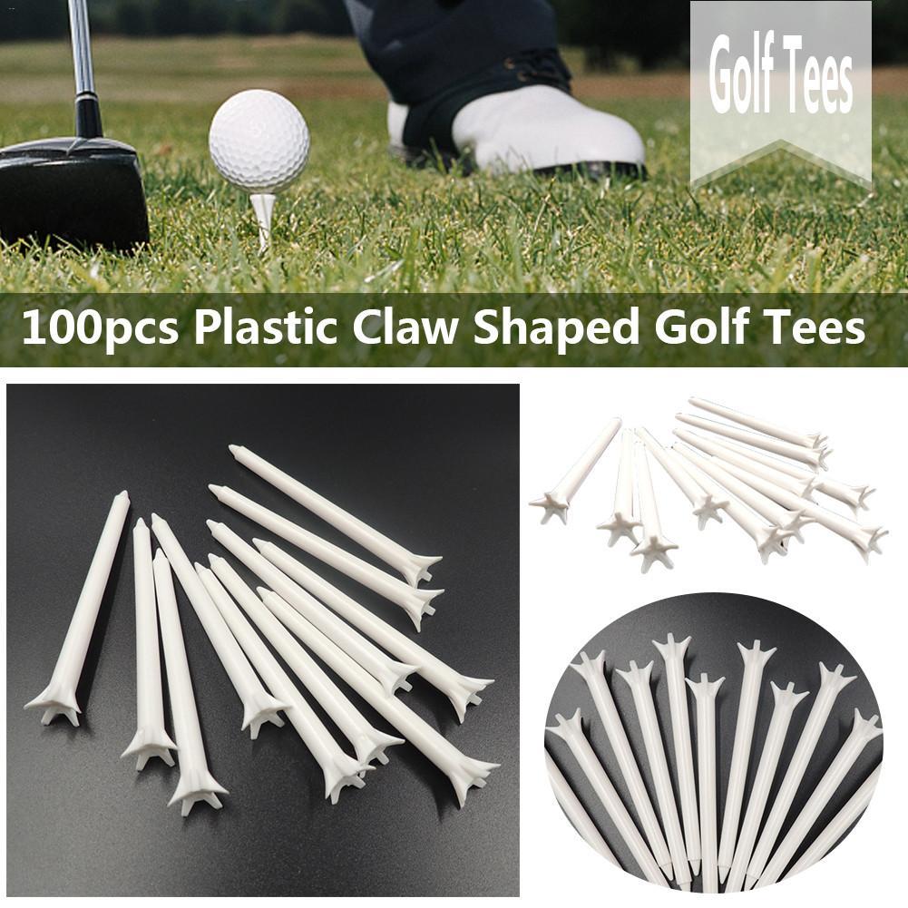 100PCS 70mm/83mm Outdoor Five Claws Plastic Golf Tees Sport Equipment Golf Ball Holder Golf Accessory