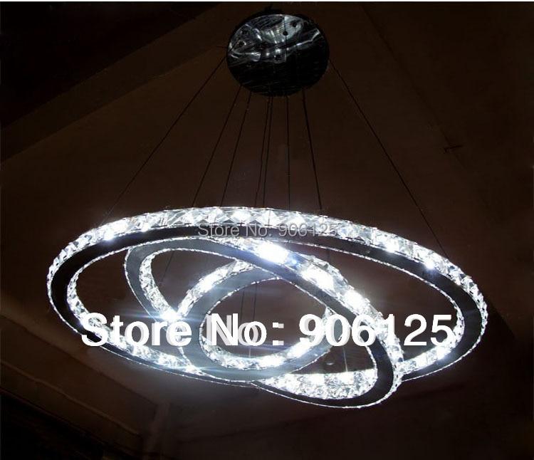 Modern 60 70 90cm Crystal Led Chandeliers Ceiling Lights: Modern LED Crystal Chandelier Light Super Sized Chandelier