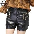 Oladivi 5XL Plus Size Women Clothing New 2017 Fashion Women Shorts Black Ploy Urethane PU Leather Short Trousers XL XXXXL XXXXXL