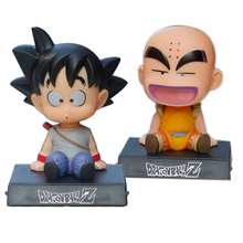 Kawaii Action Dragon Ball Z Figure Super Shaking Head Doll Bobble Head Car Decoration Phone Holder BracketDoll Model Toy 10cm stranger things hopper brenner nancy action figure bobble head q edition no box for car decoration