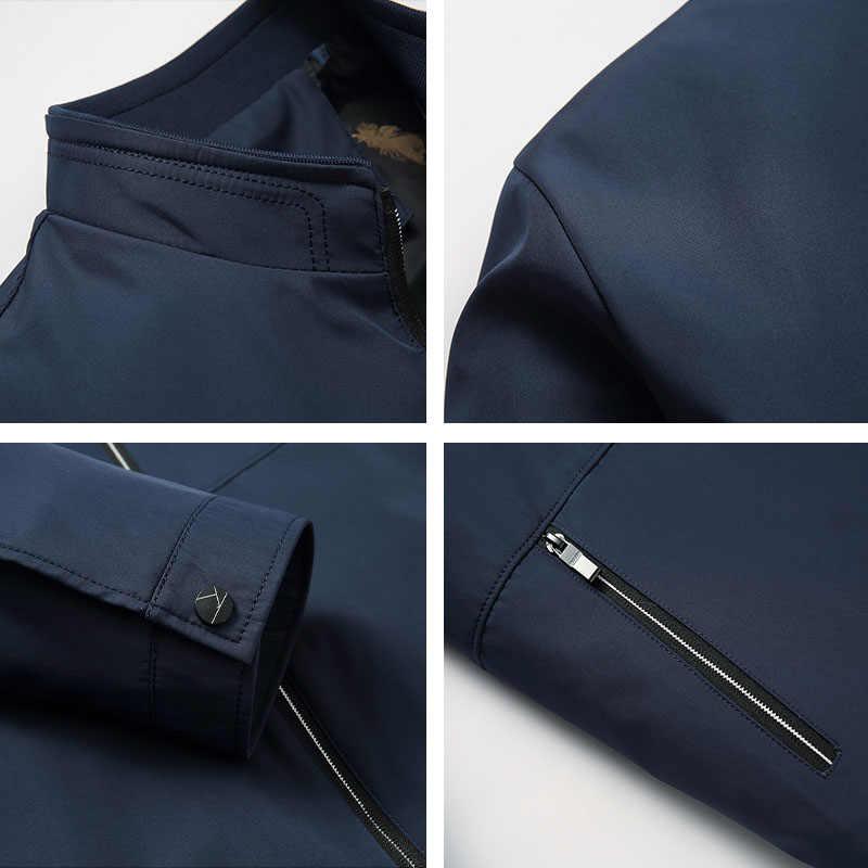 2019 neue Frühjahr Casual Herren Jacke Dünne Männliche Polyester Zipper Tasche Jacken Solide Navy Qualität Männer Mäntel Mode Varsity Jacke