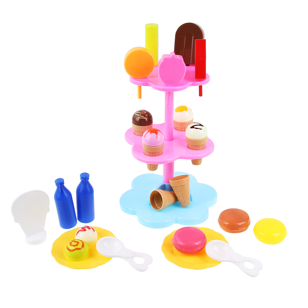 DIY Desserts Ice Cream Toy Set Children Kids Baby Pretend Play Kitchen Toys Simulate Cake Food Educational Toy Christmas Gift