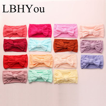 12pcs/lot Knot Bows Wide Nylon Headbands,Soft Cable Knit Girls Knotbow Head Wraps Headwraps,Newborn Baby Turban Hairs