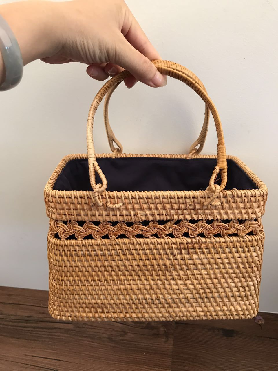 Livraison directe 2018 femmes vacances voyage plage sac loisirs rotin sac été nouveau tissé à la main sacs à main à la main bohême Totes sac