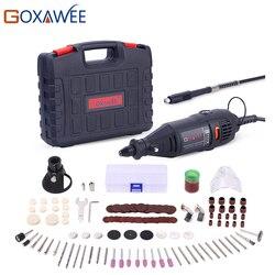 GOXAWEE 220V Ferramentas Elétricas Mini Broca com 0.3-3.2mm Chuck Universal & Kit de Ferramentas Rotativas Shiled conjunto Para Dremel 3000 4000