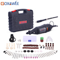 GOXAWEE 220V Power Tools Electric Mini Drill with 0.3-3.2mm Univrersal Chuck & Shiled Rotary Tools Kit Set For Dremel 3000 4000