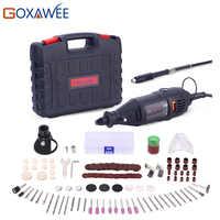 GOXAWEE 220V outils électriques Mini perceuse électrique avec mandrin universel 0.3-3.2mm et Kit d'outils rotatifs décortiqués pour Dremel 3000 4000