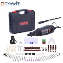 Goxawee 110v 220v ferramentas elétricas mini broca elétrica com mandril universal de 0.3 3.2mm & ferramentas giratórias shilled para dremel 3000 4000