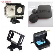 LANBEIKA For SJCAM SJ5000 Waterproof Housing + Standard Frame + Lens Cover + Storage Bag Case For SJCAM SJ5000 SJ5000X WIFI