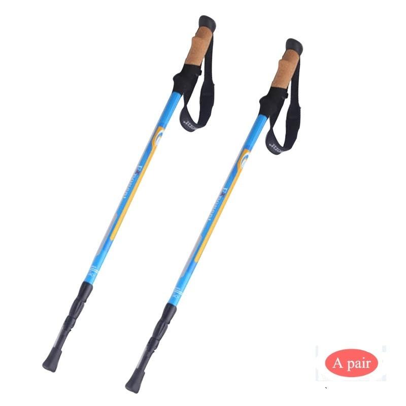 POINT BREAK ABD8068 2pcs/lot 190g/pcs Carbon Fiber Trekking Pole 3 Section Ultralight Adjustable Hiking Alpenstock Walking Stick