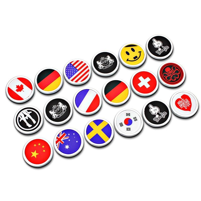 4cm x 4cm Funny Car Stickers Round Flag Badge Love Heart Emblem Emoji Decal Auto Accessories for Mini Cooper Alfa Romeo BMW Audi emblem