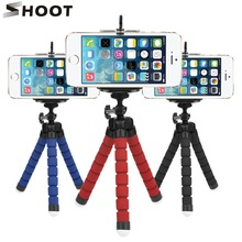 SHOOT Mini Octopus Tripod Stand Holder for Phone With Phone Clip Mount for iphone X 7
