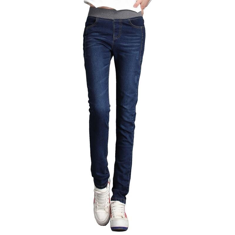 Jeans Women Pants 2016 New Fashion Plus Size Stretch Elastic Skinny Casual Slim Pencil Denim Female Pants rosicil new women jeans low waist stretch ankle length slim pencil pants fashion female jeans plus size jeans femme 2017 tsl049