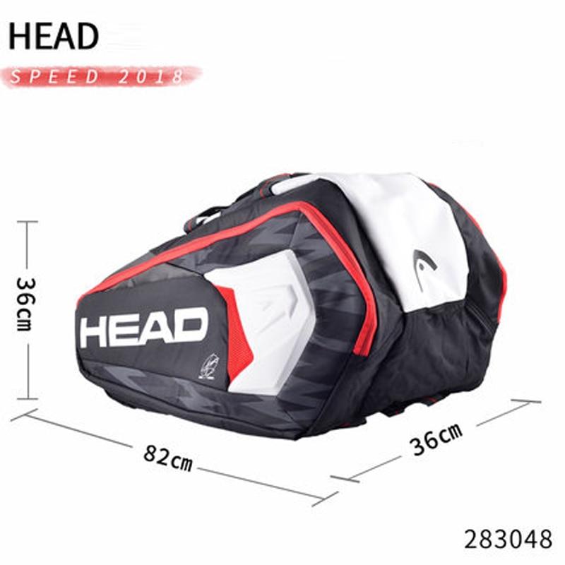 Head Tennis Bag >> Us 46 94 55 Off Head Tennis Bag Djokovic Original Tennis Racket Bag Double Shoulder Bag Can Hold 9 Tennis Rackets Large Capacity Tennis Backpack In