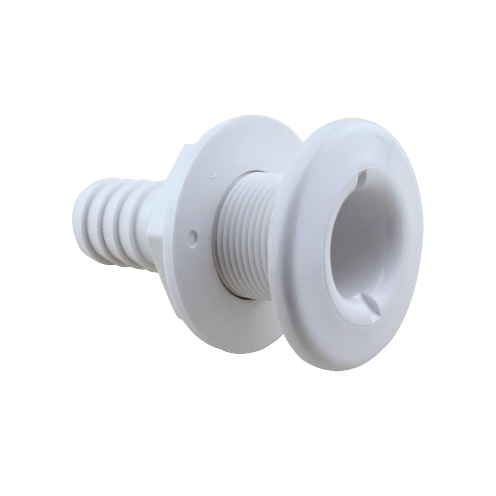 Außen-entwässerung Offen Boot Thru Rumpf Montage/ablauf 3/4 schlauch Barb Marine Nylon Material Sanitär