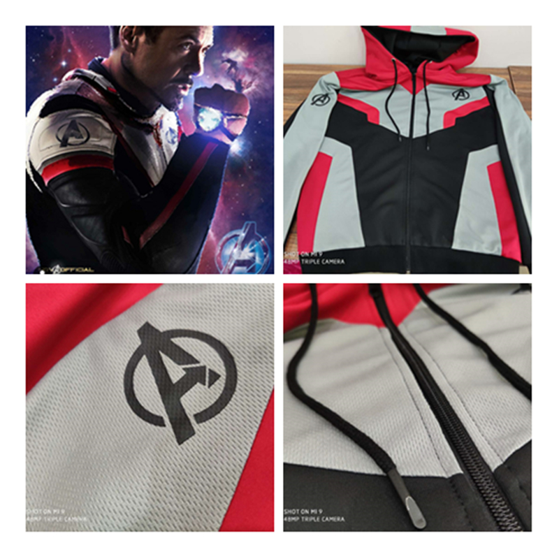 Original version The Avengers Endgame Quantum Realm Jackets Cosplay adult child Sweatshirt Kid Jacket Superhero Zipper Hoodie