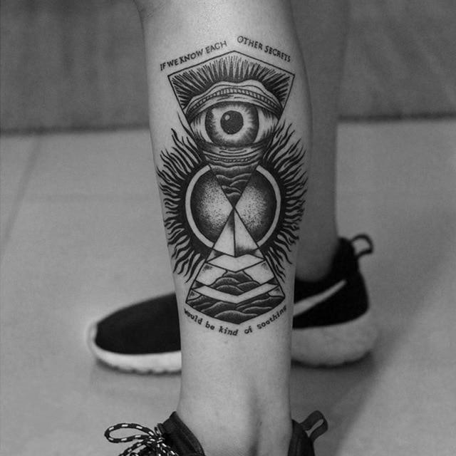 Venta Al Por Mayor Nuevo Tótem Impermeable Tatuaje Pierna Temporal