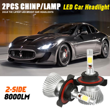 1pair  Headlights Auto Leds Headlight H13 Car Led  Bulb 6000lm 12v Automotive Fog Lamp