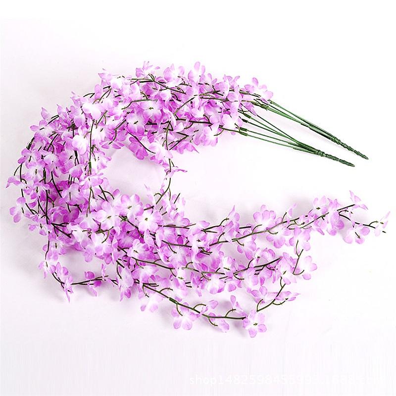 Umetna češnja Rattan breskev cvet cvet steno visi cvet vino umetno - Prazniki in zabave