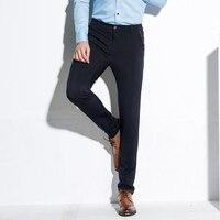 2017 Nowy Marka Cotton Garnitur Spodnie Na Co Dzień Człowiek Dobrej Jakości UE Rozmiar 38 Spodnie W Połowie Pasa Skinny Garnitur Ślubna Mężczyzn