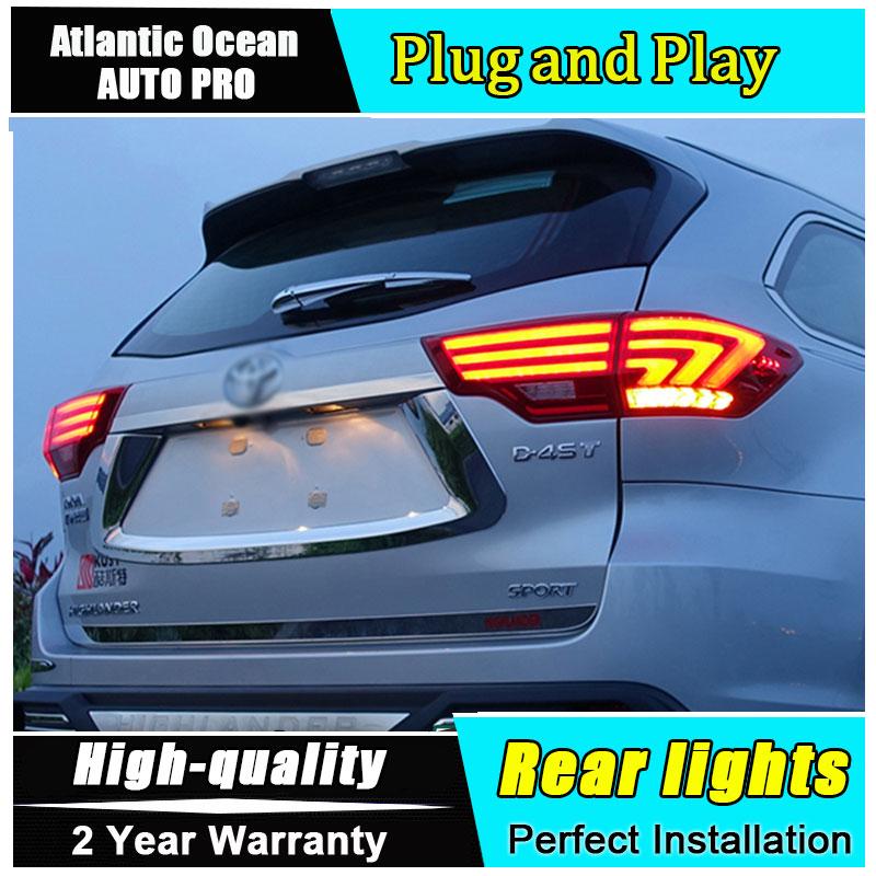 Автомобиль JGRT стайлинг для новые задние фонари Хайлендер 2015 для Горец из светодиодов задний фонарь Лексус Тип задняя противотуманная фара для 1pair ,4шт