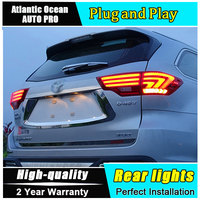 JGRT Car Styling For New Highlander Taillights 2015 Kluger LED Tail Lamp Lexus Type Rear Lamp