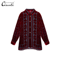 Silk Velvet Shirt Silk Woman Shirt Coat Woman Tops and Blouses Velvet Shirt New For Ladies Elegant Lace Blouses Free Shipping