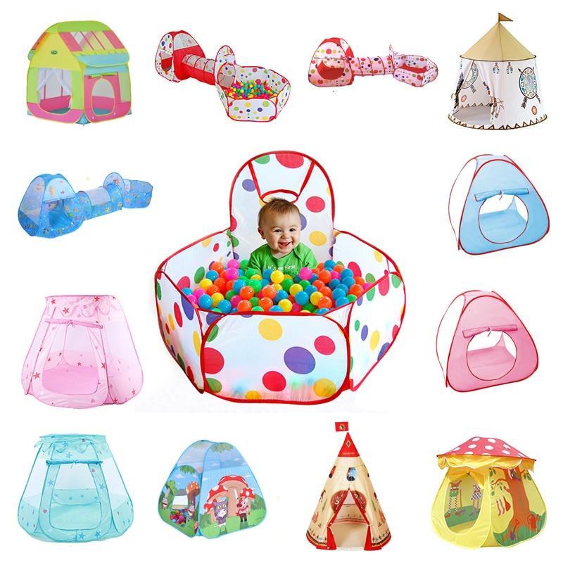 Foldable Children's Toys Tent For Ocean Balls Kids Play Ball Pool Outdoor Game Large Tent For Kids Children Ball