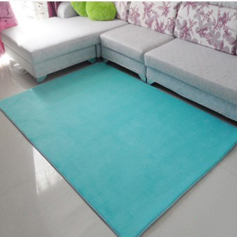 Coral Fleece Mat Cover Floor Area For Living Room Kitchen Floor Pink Blue China