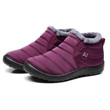 New Waterproof Women Boots Women Ankle Boots Female Winter Boots Warm Fur Platform Boots Bota Women Shoes Winter Shoes Plus Size недорого