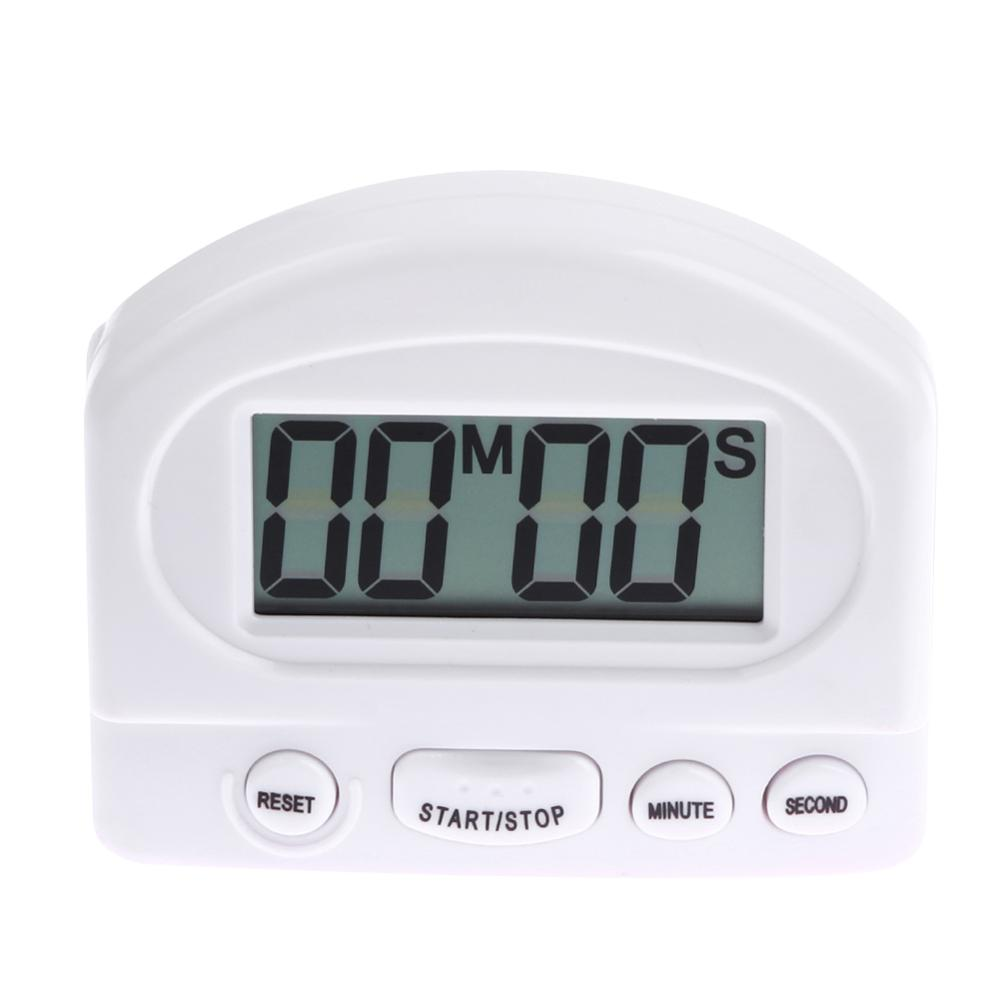 White Black Digital Timer Alarm Clock Countdown Gadgets with Large ...