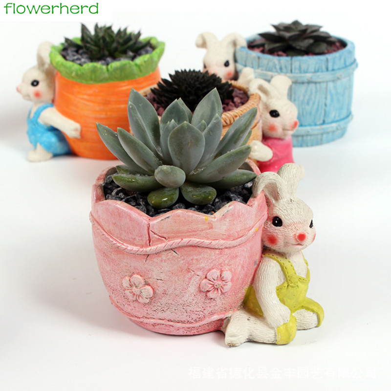 Home Craft Ideas Easter Bunny Flower Pot Craft Flower Pot: Aliexpress.com : Buy Succulent Planter Pots Resin Easter