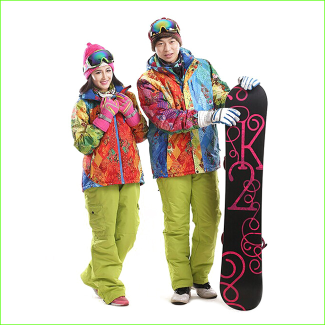 MJP01K Men And Women Ski Suit Pants Jackets Set Waterproof Windproof Winter Sportwear Suit Snowboard Clothing